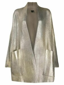 Avant Toi glitter-effect cardi coat - Neutrals