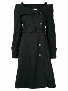 PortsPURE double-breasted midi dress - Black