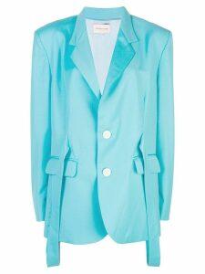 Natasha Zinko strap embellished blazer - Blue