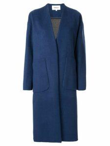 Enföld longline cocoon coat - Blue