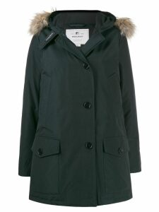 Woolrich fur collar parka coat - Blue