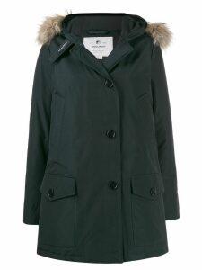 Woolrich fur collar parka coat - Blue