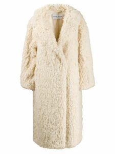 STAND STUDIO oversized mid-length coat - White