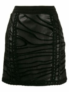 Amen lace trim skirt - Black