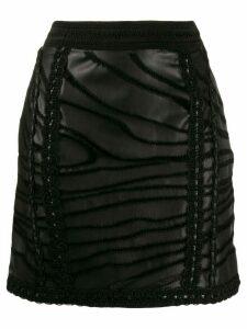 Amen lace trim skirt - Black