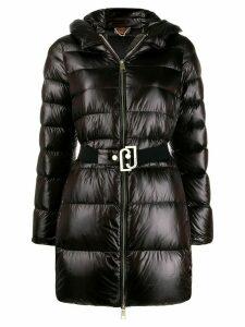 LIU JO zip-front belted puffer jacket - Black
