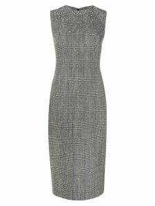 Ermanno Scervino stud-embellished houndstooth shift dress - Grey