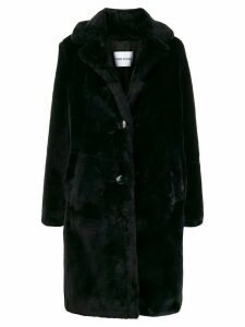 STAND STUDIO boxy fit button up coat - Black