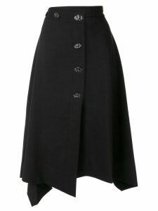 PortsPURE asymmetric a-line skirt - Black