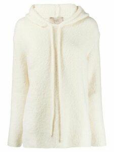Maison Flaneur hooded knit jumper - White