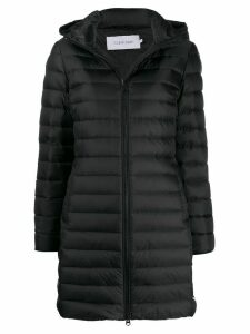 Calvin Klein quilted hooded coat - Black