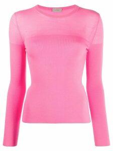 MRZ long-sleeve fine knit jumper - Pink