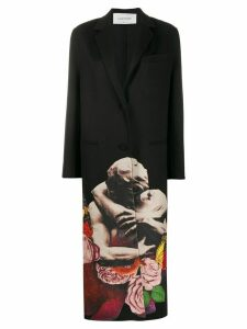 Valentino x Undercover Lovers print single-breasted coat - Black
