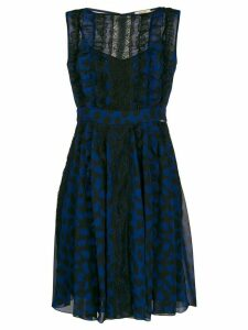 LIU JO animal-print lace-detail dress - Blue