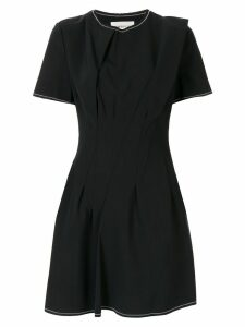PortsPURE gathered front flared dress - Black