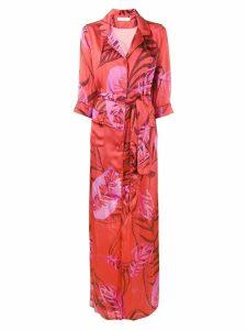 Borgo De Nor Maria palm print maxi dress - Red