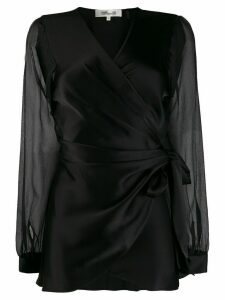 Diane von Furstenberg Klee wrap shirt - Black