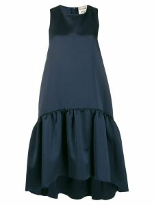 Semicouture sleeveless flared midi dress - Blue