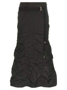 Hyein Seo gathered shirring midi skirt - Black