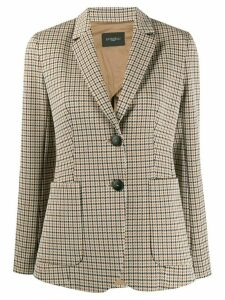Antonelli hounds-tooth tailored blazer - Brown