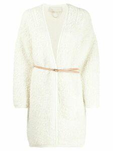 Vanessa Bruno Martine belted cardi coat - NEUTRALS