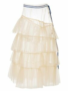 Enföld sheer tulle tiered skirt - Neutrals