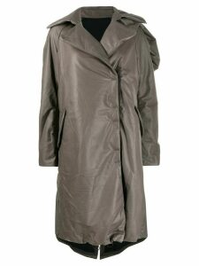 Isaac Sellam Experience concealed fastening leather trench - Grey