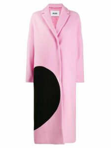 MSGM broken heart oversized coat - PINK
