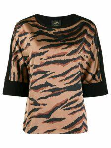 LIU JO tiger print boxy top - Brown