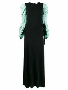Tory Burch gathered sleeve maxi dress - Black