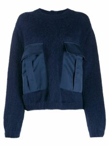 Semicouture oversized-pockets sweater - Blue