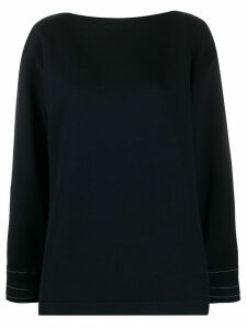 Marni exposed stitch sweatshirt - Blue