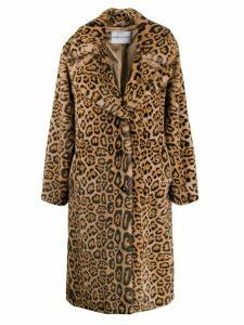 STAND STUDIO Fanny leopard print coat - Neutrals