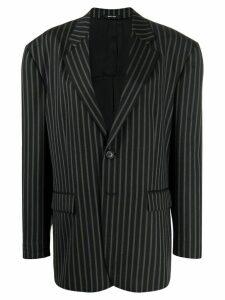 Maison Margiela pinstriped oversized blazer - Black