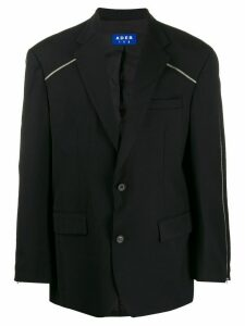 Ader Error zip detail oversized blazer - Black