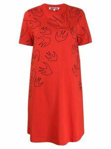 McQ Alexander McQueen Swallow print T-shirt dress - Red