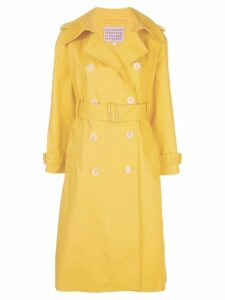 Alexa Chung mid-length trench coat - Yellow