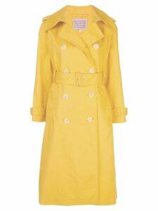 Alexa Chung mid-length trench coat - Yellow