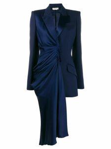 Alexander McQueen Selvedge draped blazer - 4012 BLUE