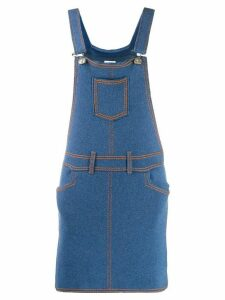 Barrie denim pinafore dress - Blue