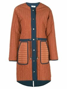 Nomia loose-fit quilted coat - Brown