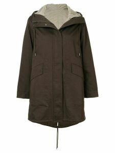 Theory hooded parka - Brown