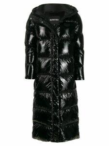 Duvetica long panelled padded coat - Black