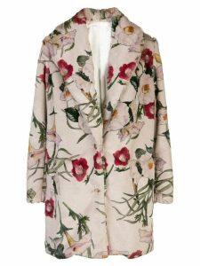 Suzanne Rae floral-print coat - Neutrals