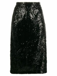 Nº21 sequinned midi skirt - Black