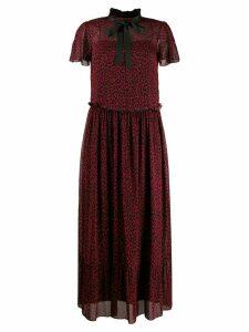 Red Valentino RED (V) Leo Rock long dress - Black