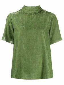 Forte Forte textured short-sleeve top - Green