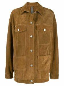 Giorgio Brato oversized western jacket - Neutrals