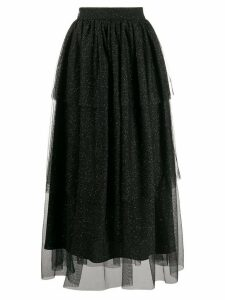 be blumarine high waisted tiered skirt - Black