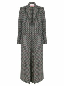 Danielapi check pattern coat - Grey